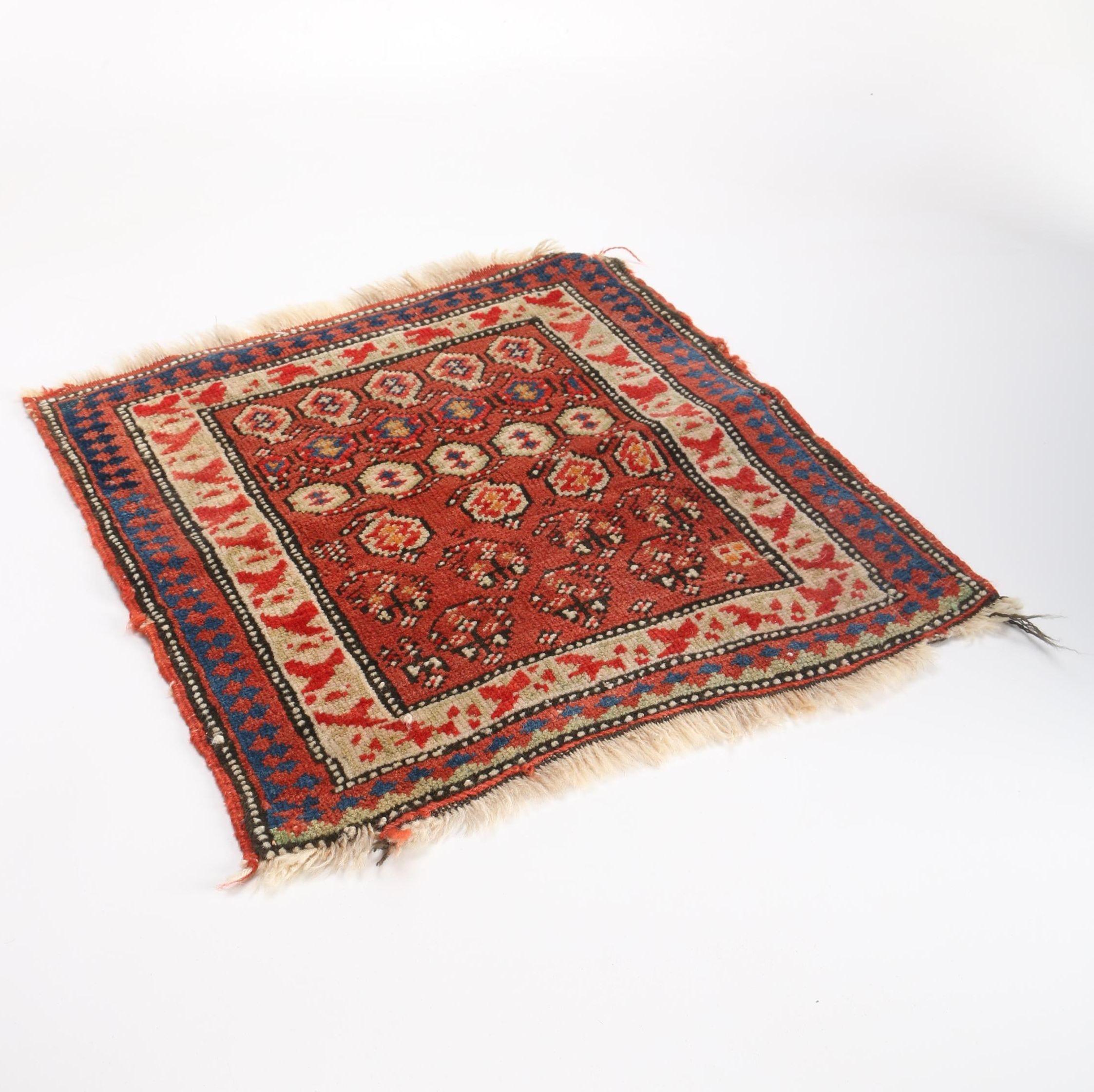 Vintage Hand-Knotted Anatolian Wool Yastik