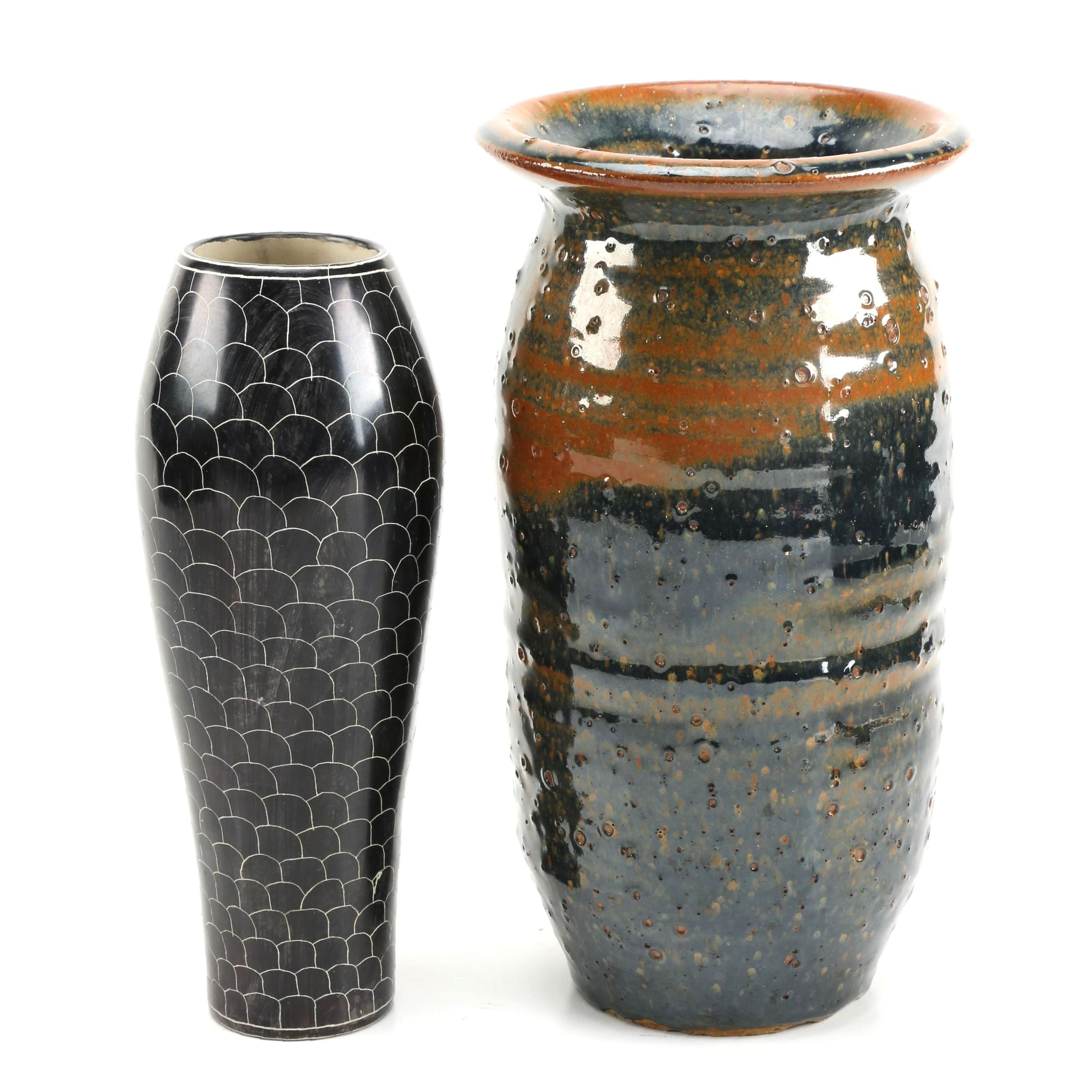Hand Thrown and Soapstone Vase Selection