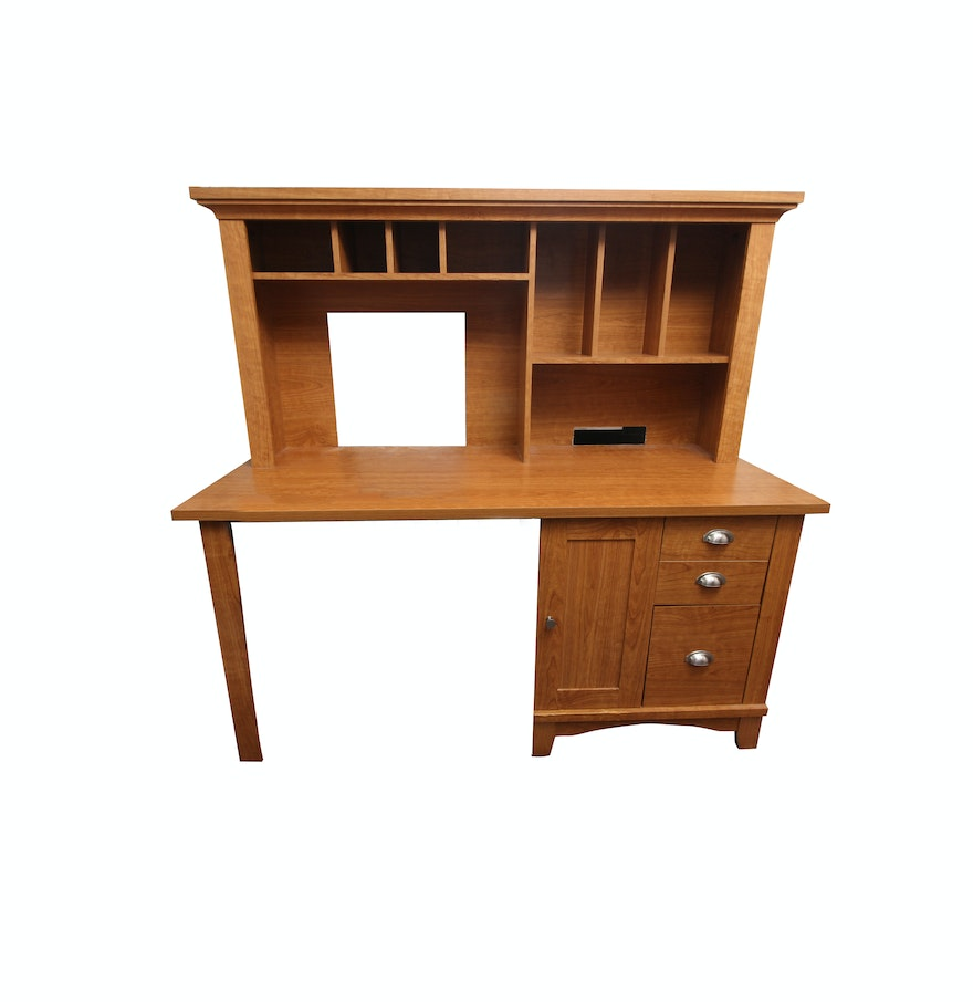 Mission style desk with hutch ebth - Mission style computer desk with hutch ...
