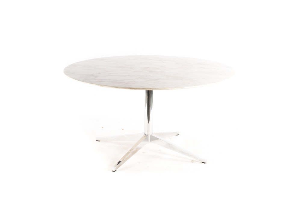 Round Marble Table by Florence Knoll for Knoll