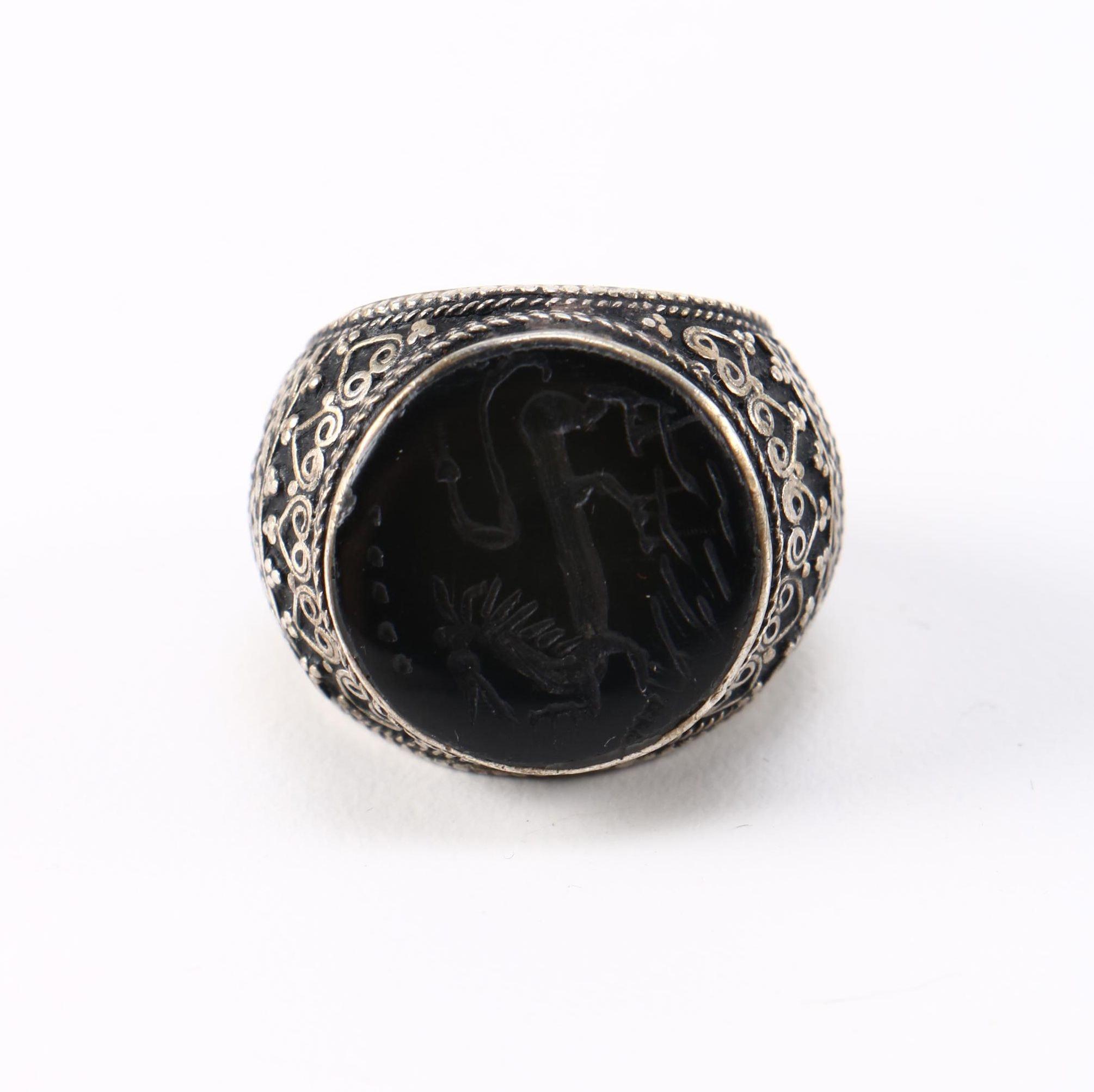 Ornate Black Onyx Ring