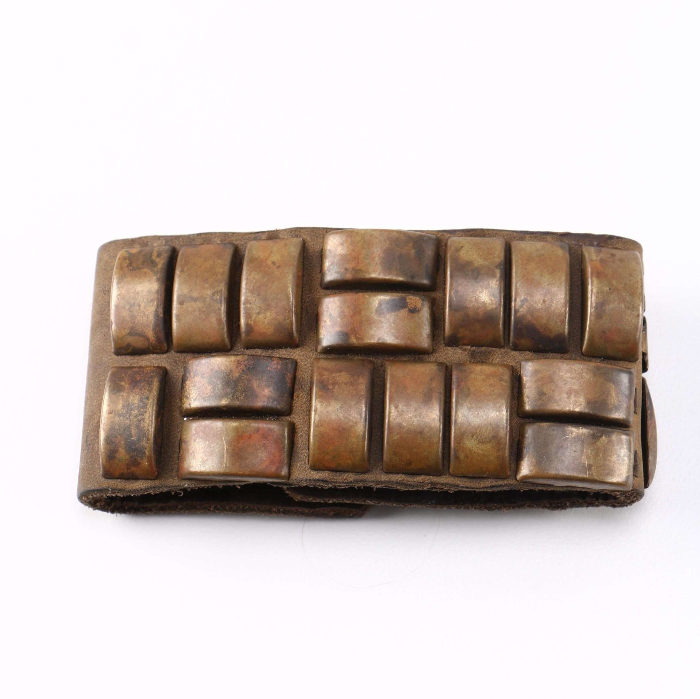 Leather and Brass Bracelet by Harteau