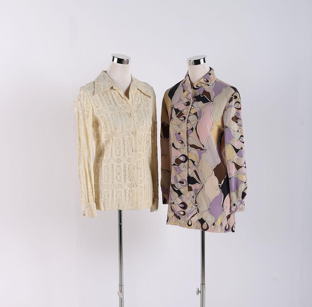 Emilio Pucci Blouse and Crochet Blouse