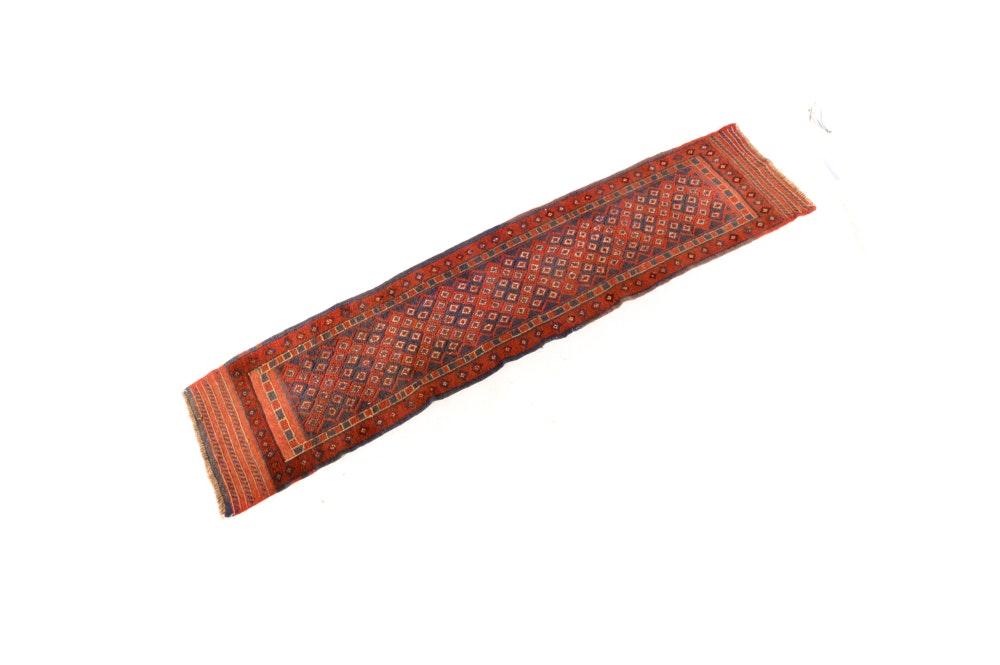 Hand-Knotted Baluch Tribal Carpet Runner