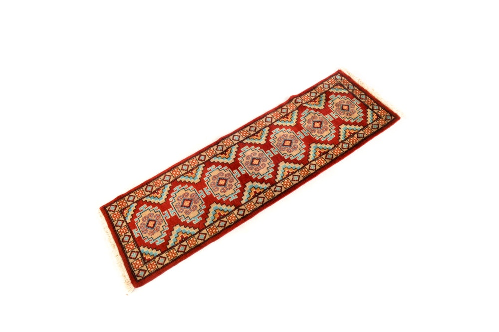 Hand-Knotted Indian Wool Runner
