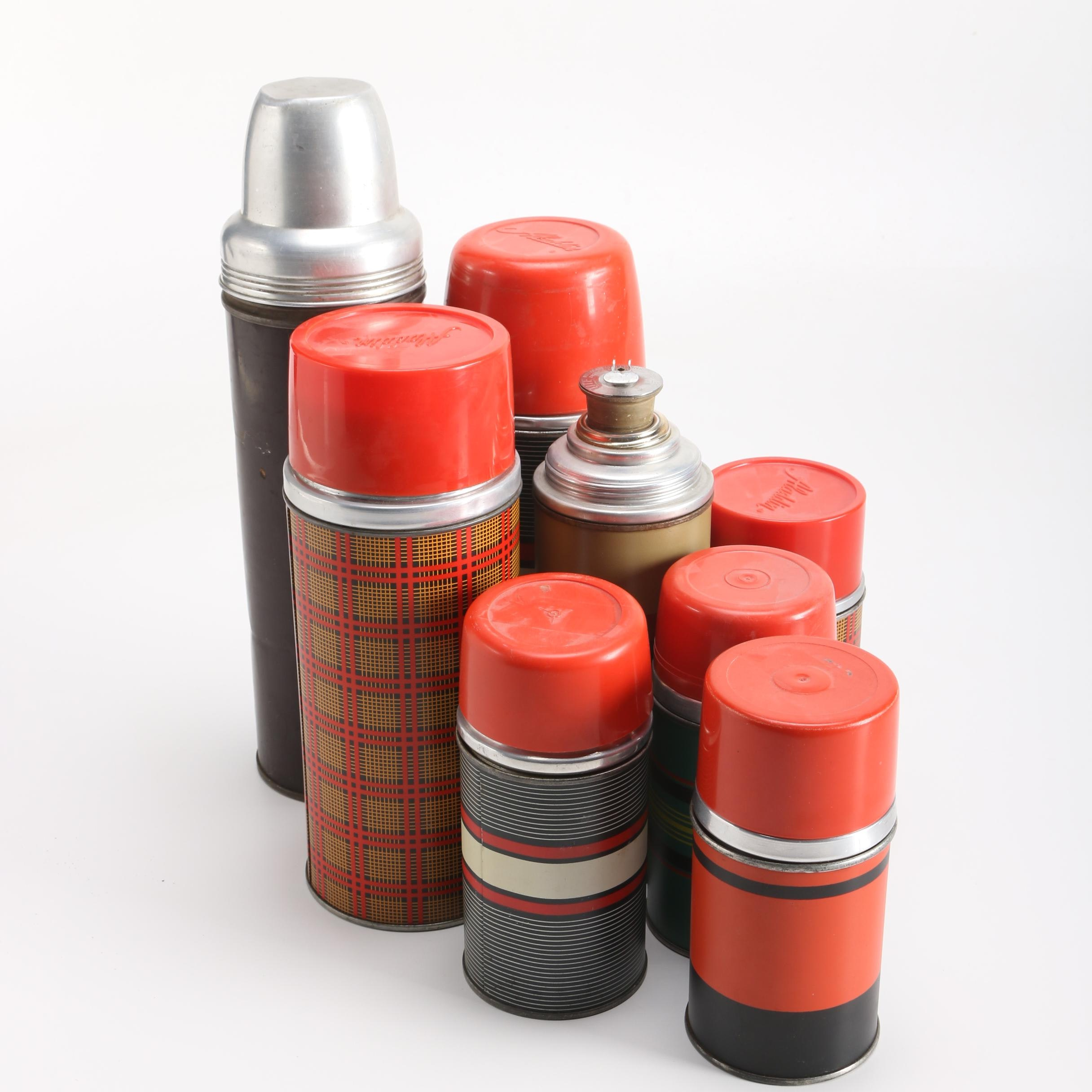 Collection of Vintage Insulated Bottles