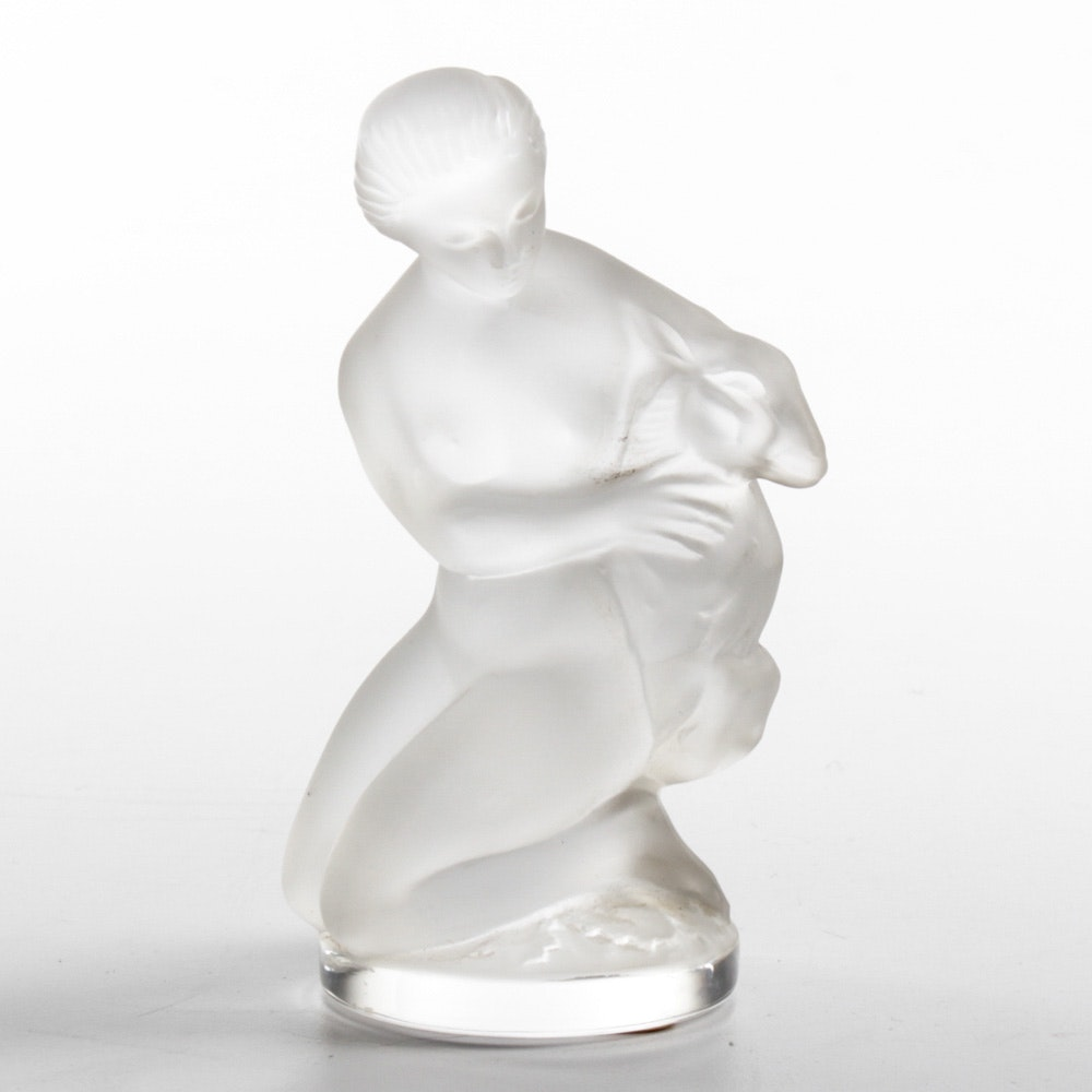 """Lalique """"Diana and the Fawn"""" Figurine"""