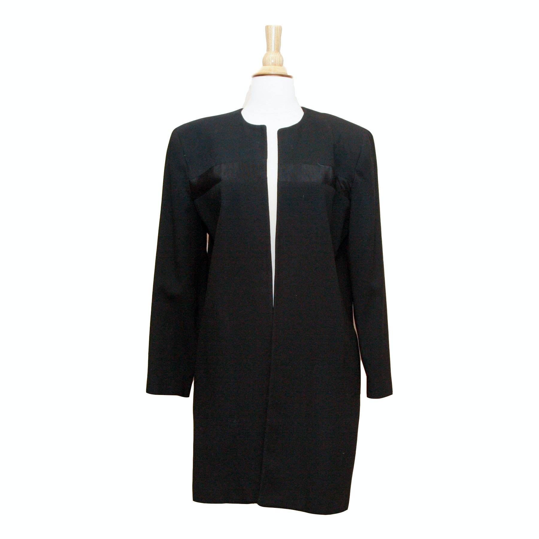 Saks Fifth Avenue The Works Black Wool Coat