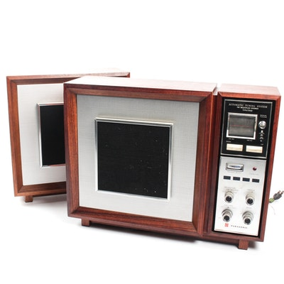 Vintage Teak Panasonic Model RE-787 Stereo and Speaker