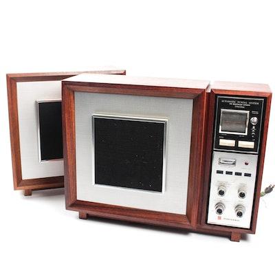 Vintage Teak Panasonic Model RE-787 Stereo and Speaker