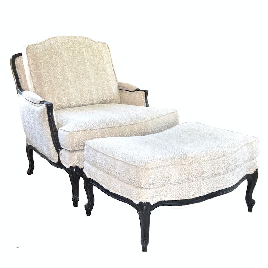 Versailles Chair And Ottoman By Ethan Allen Ebth