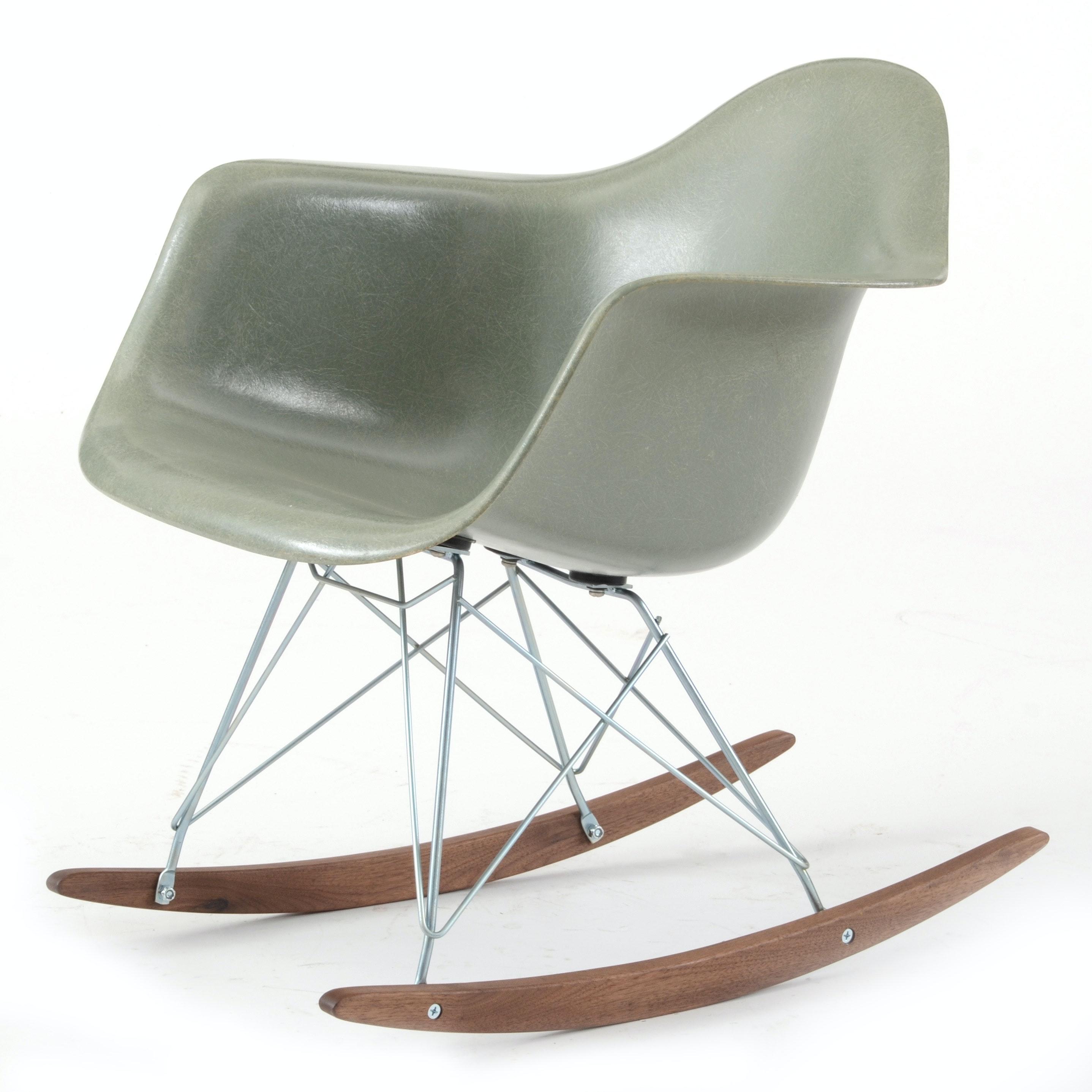 Herman Miller Fiberglass Shell Rocking Chair