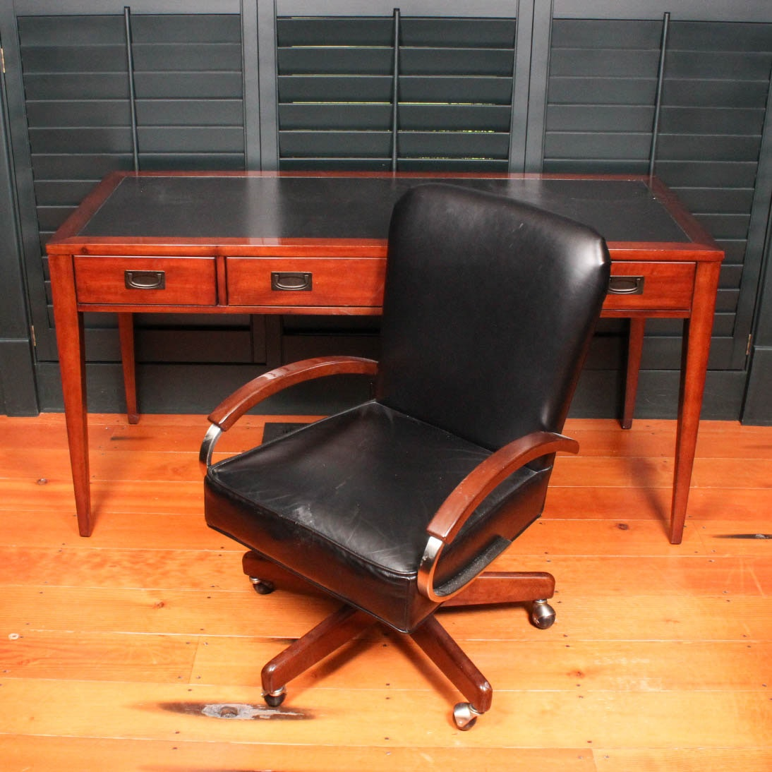 """Contemporary """"Danforth"""" Desk by Hooker Furniture With Chair"""