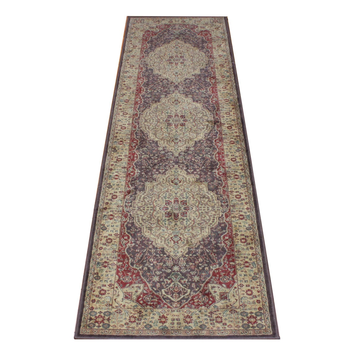 Machine Knotted Indo-Persian Carpet Runner