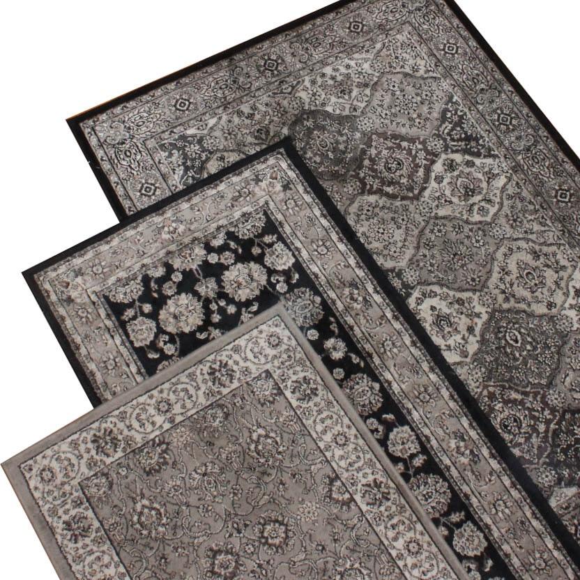 Indo-Persian Influenced Monochromatic Rug Set