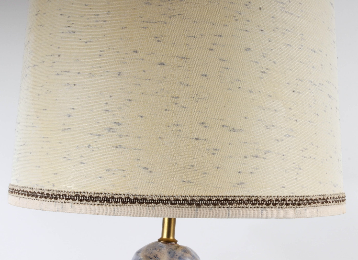Hand Painted Ceramic Figurine Table Lamp Ebth