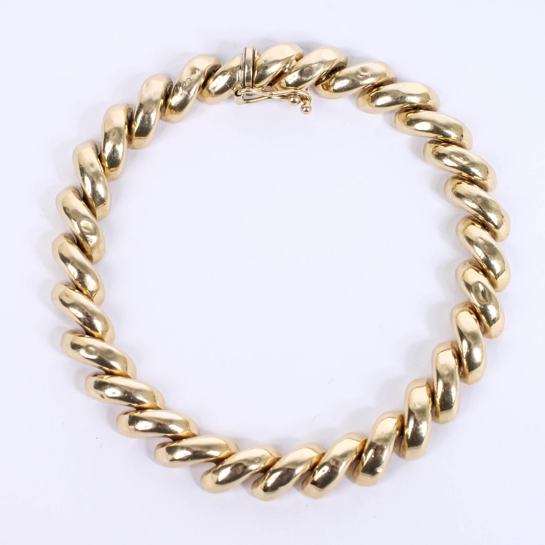 Peru 14K Yellow Gold San Marco Bracelet