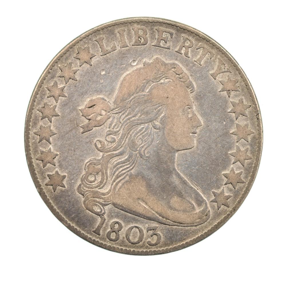 1803 Large Three Draped Bust Half Dollar