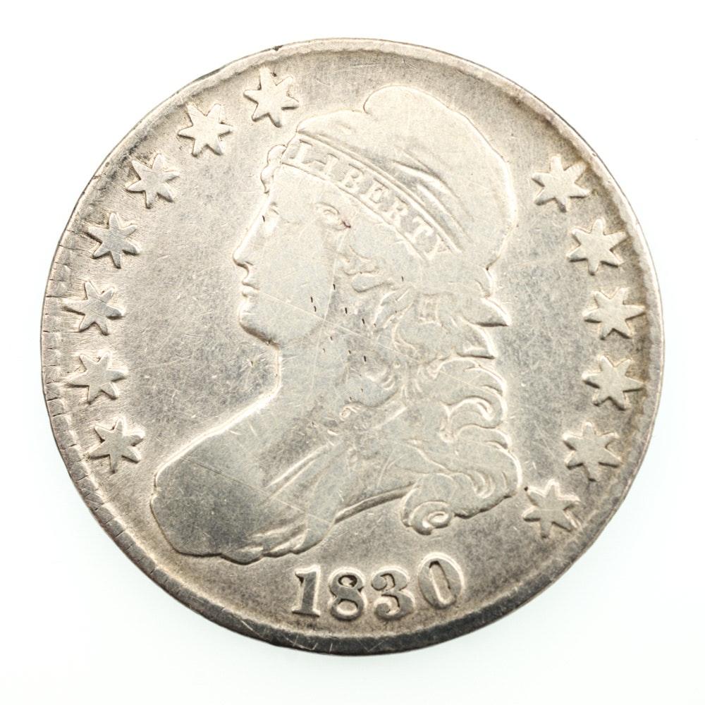 1830 Capped Bust Half Dollar