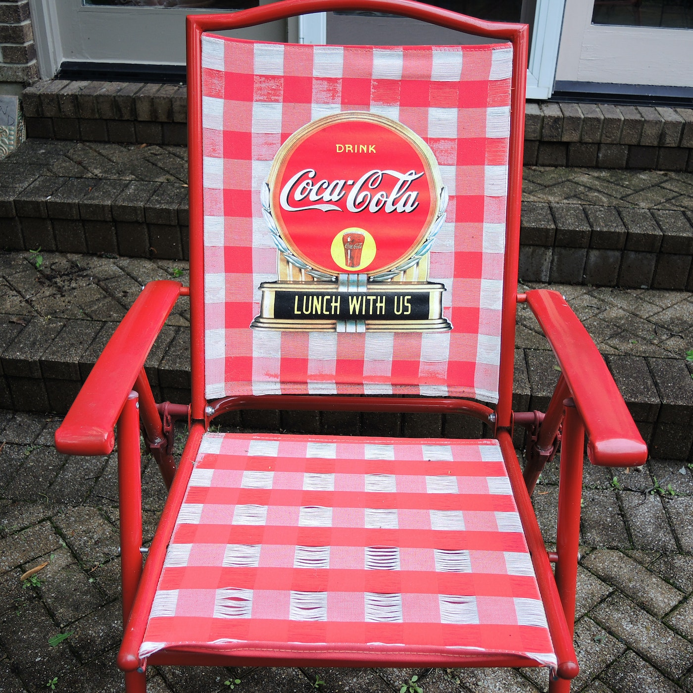 Red Coca Cola Patio Bistro Table And Chairs Set Ebth