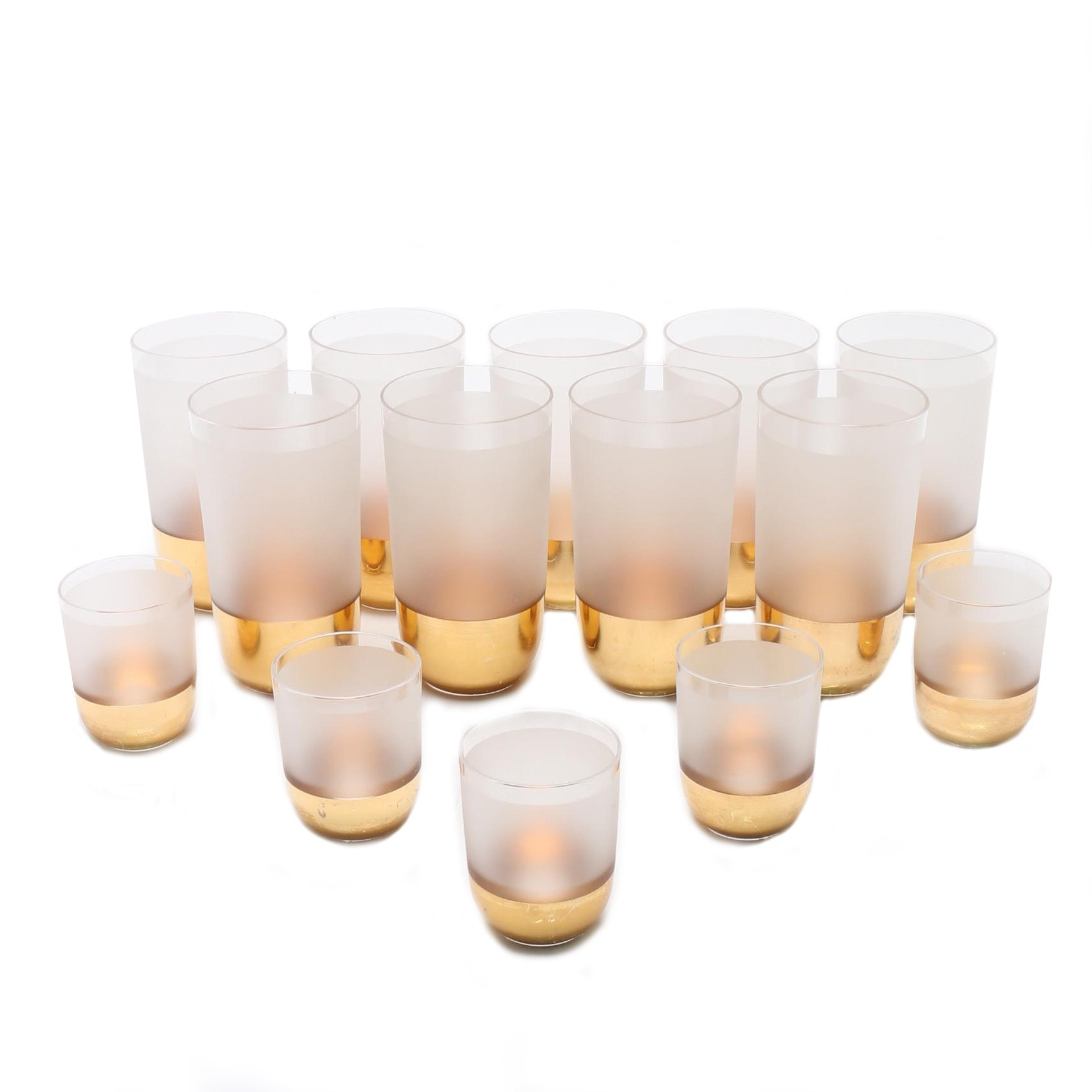 Collection of Mid Century Modern Frosted Glasses