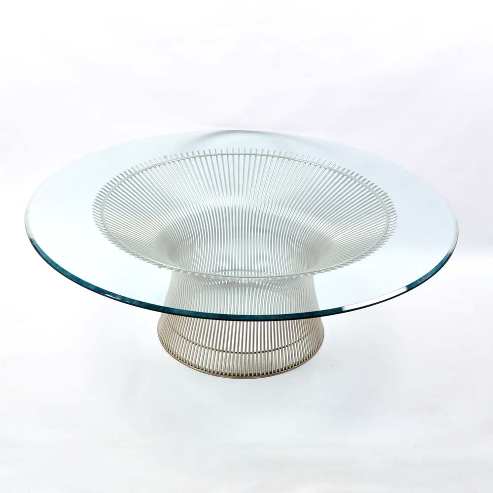 Platner for Knoll Glass Top Coffee Table
