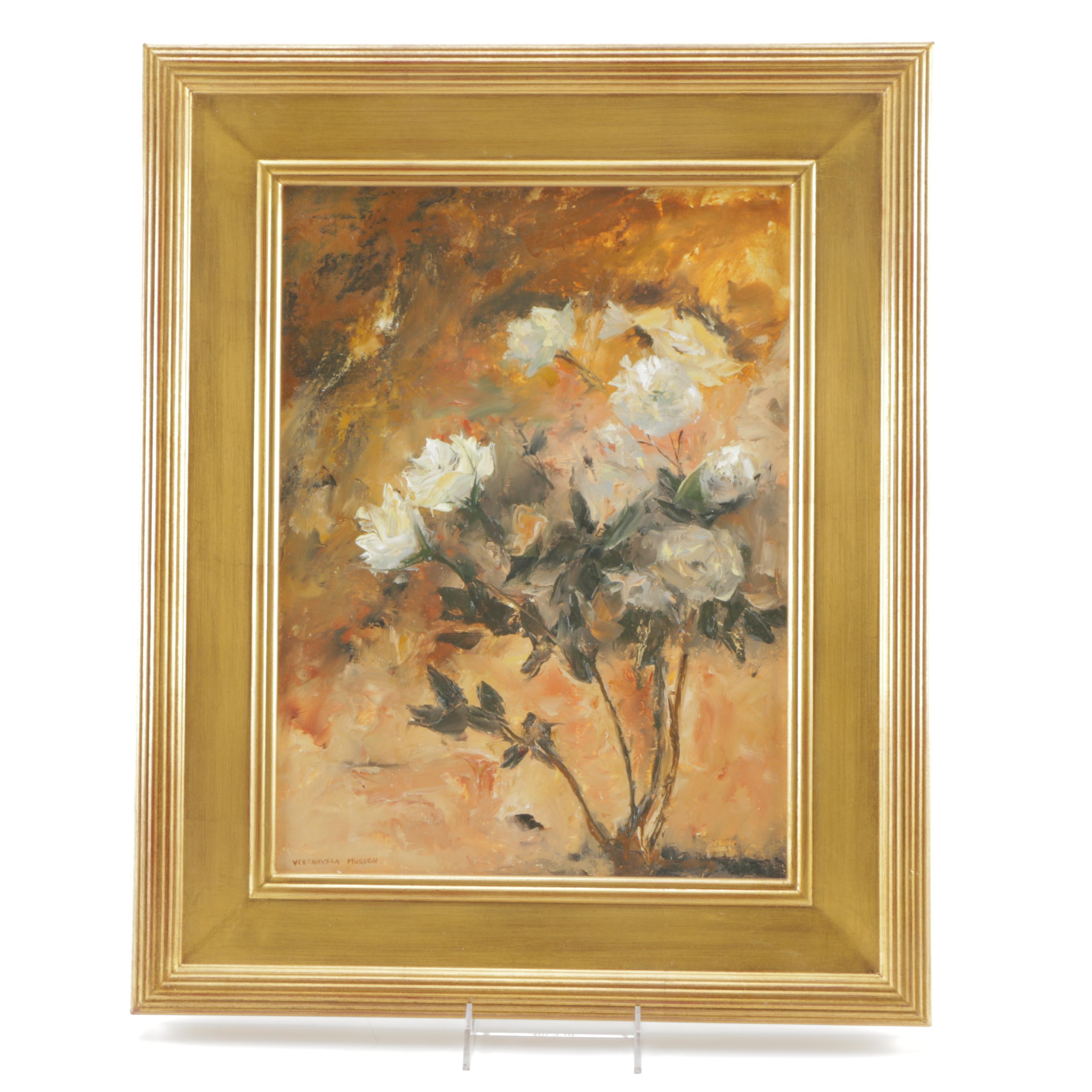 "Elisa Verchavska Musson Oil Painting on Canvas ""Sublime"""