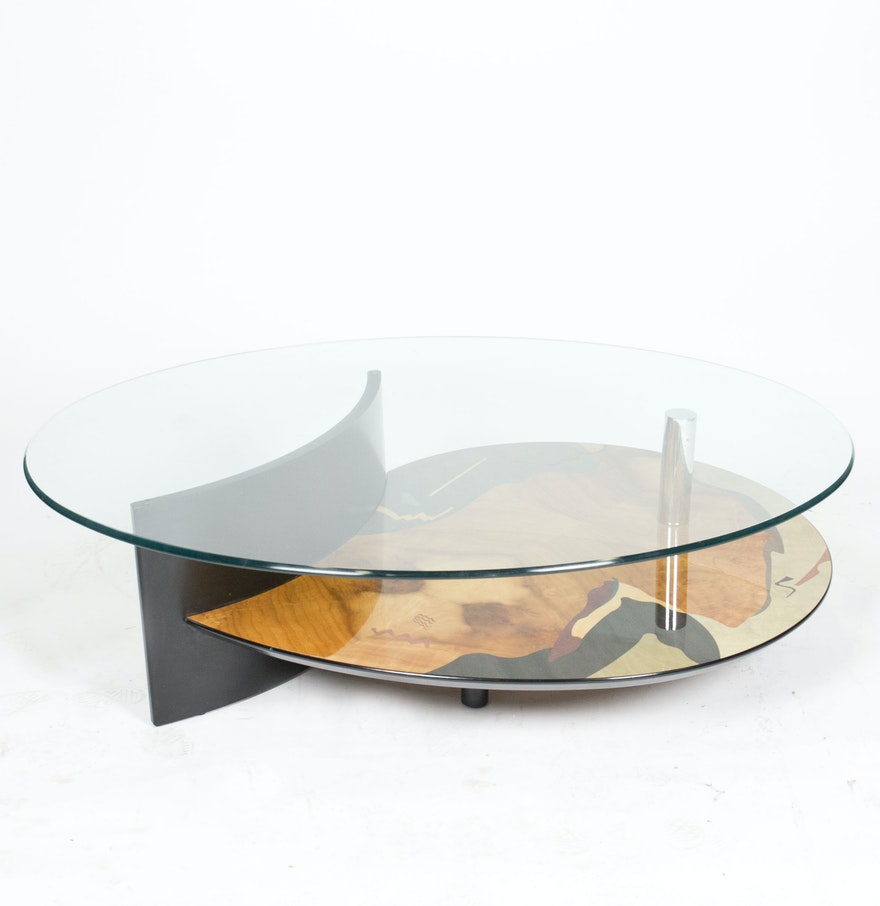 beautiful chippendale glass top coffee table
