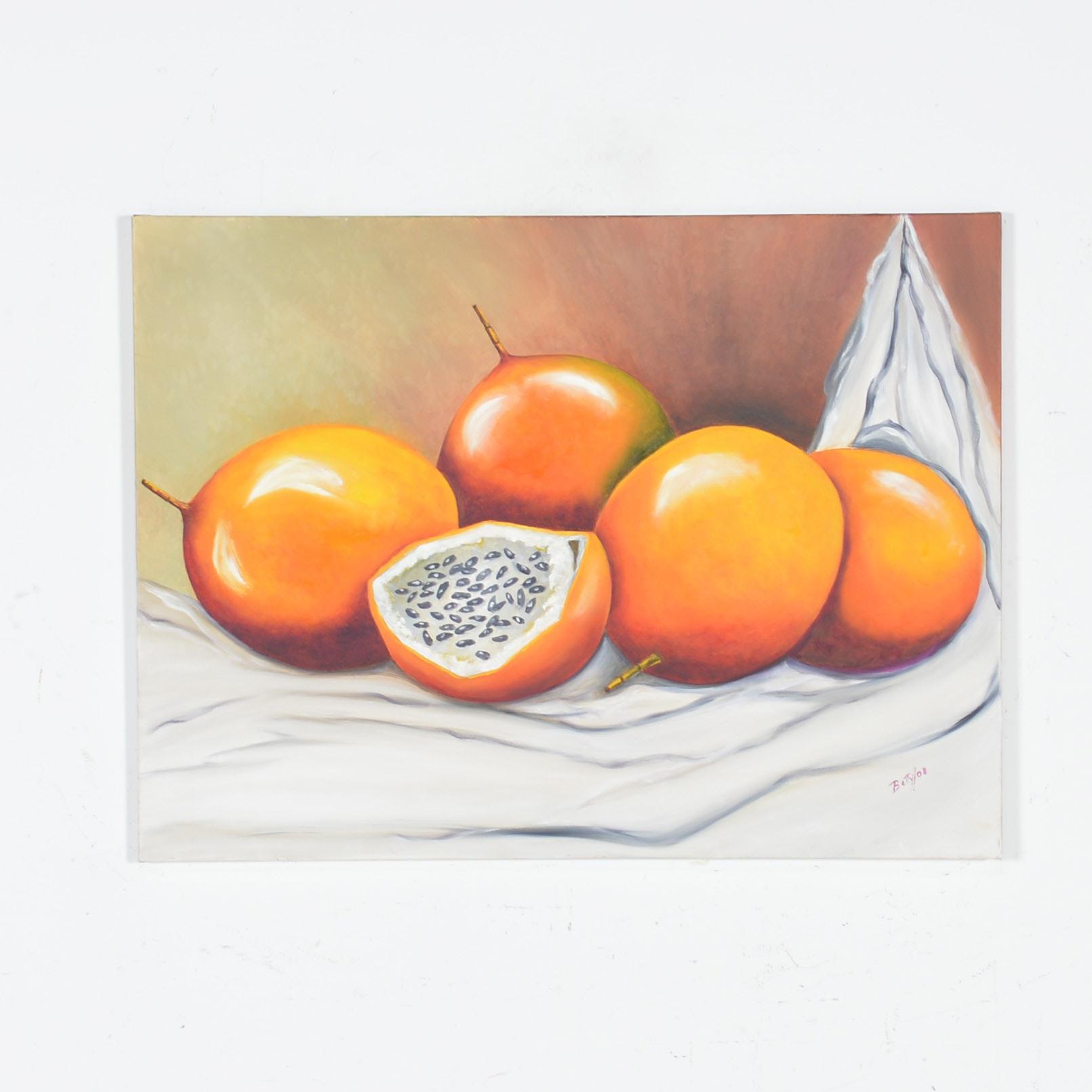 Original Oil on Canvas Painting of Granadillas