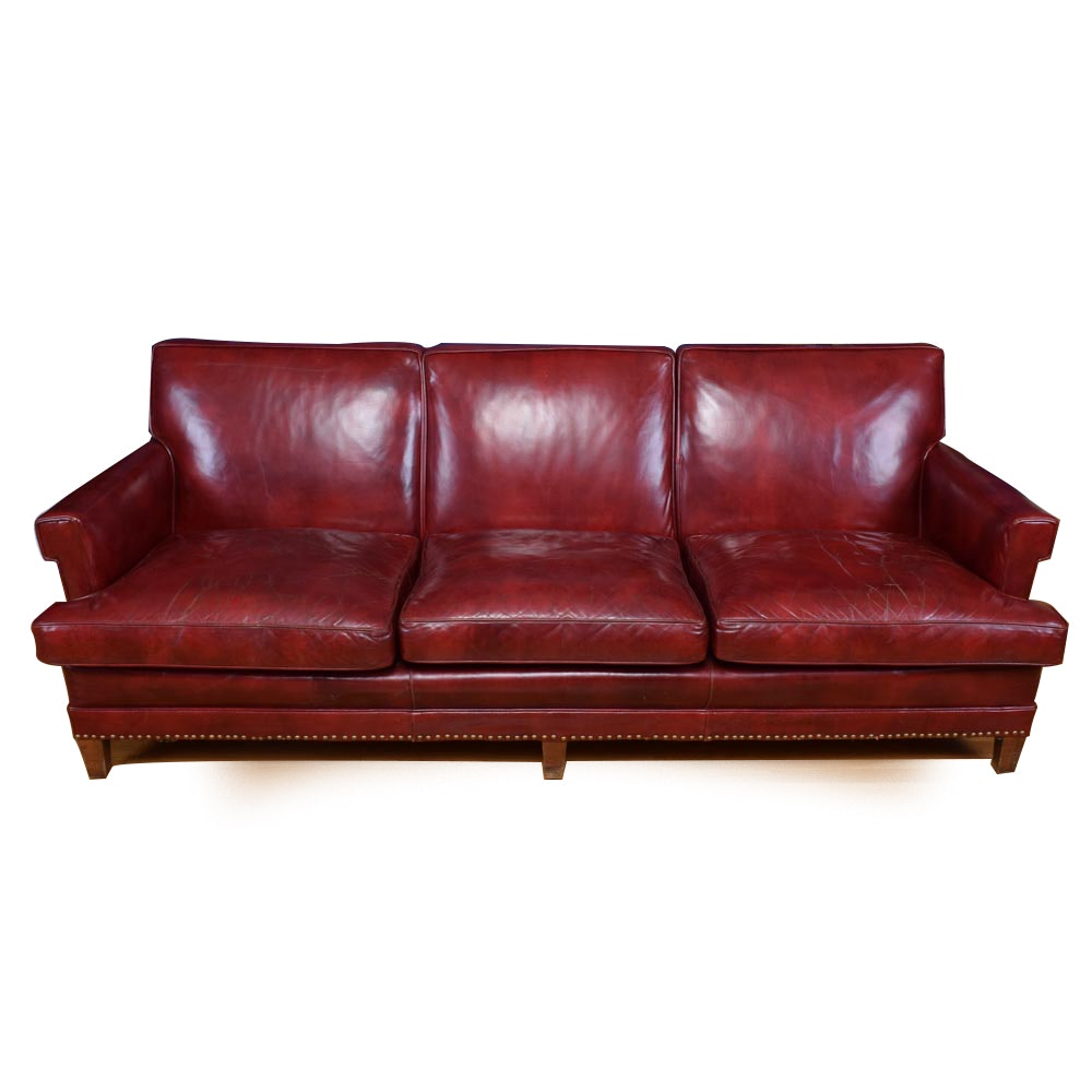 Mid-20th Century Three Seat Vinyl Sofa