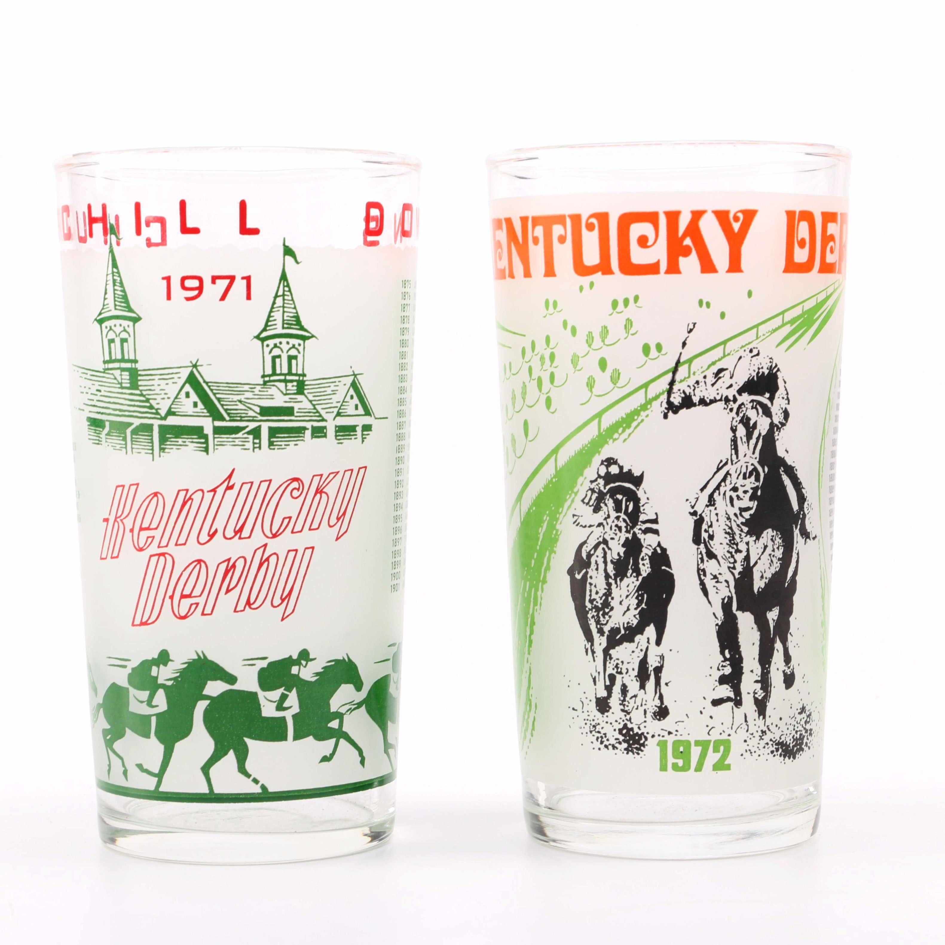 1971 and 1972 Kentucky Derby Glasses