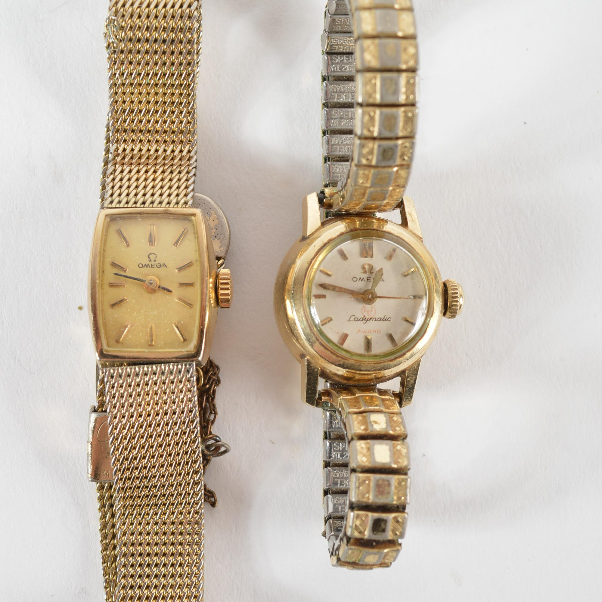 Vintage Omega Gold-Filled Wristwatches
