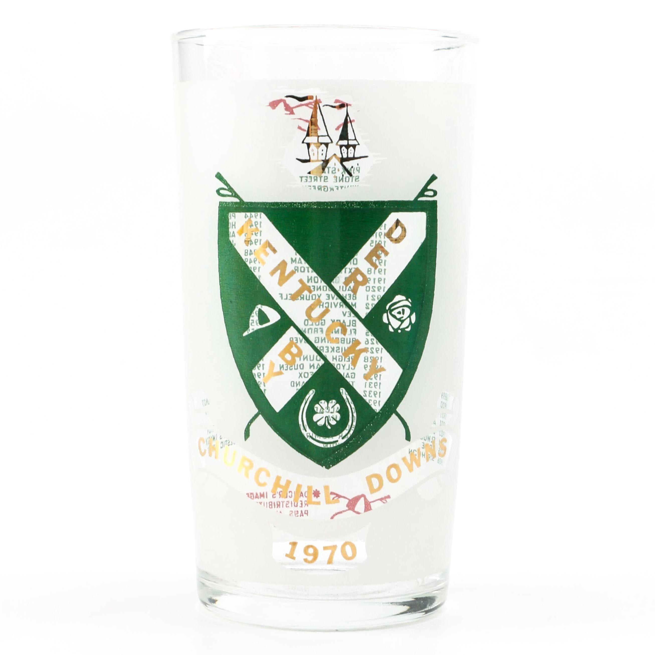 1970 Kentucky Derby Julep Glass