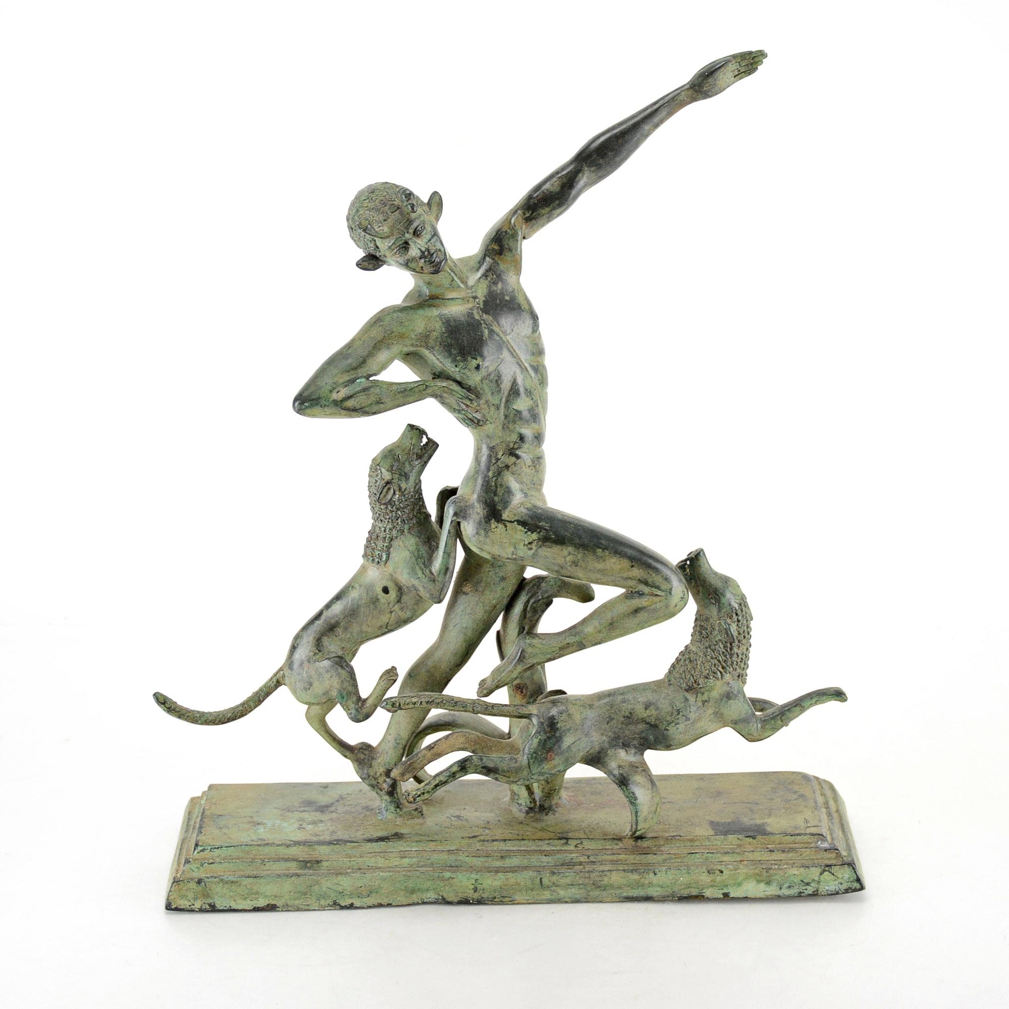 Composite Metal Sculpture of Actaeon