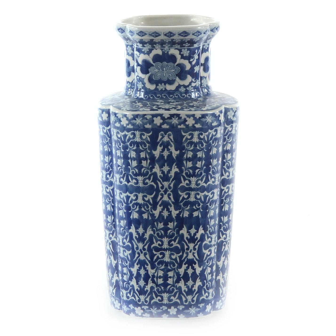 Blue and White Chinese Porcelain Vase