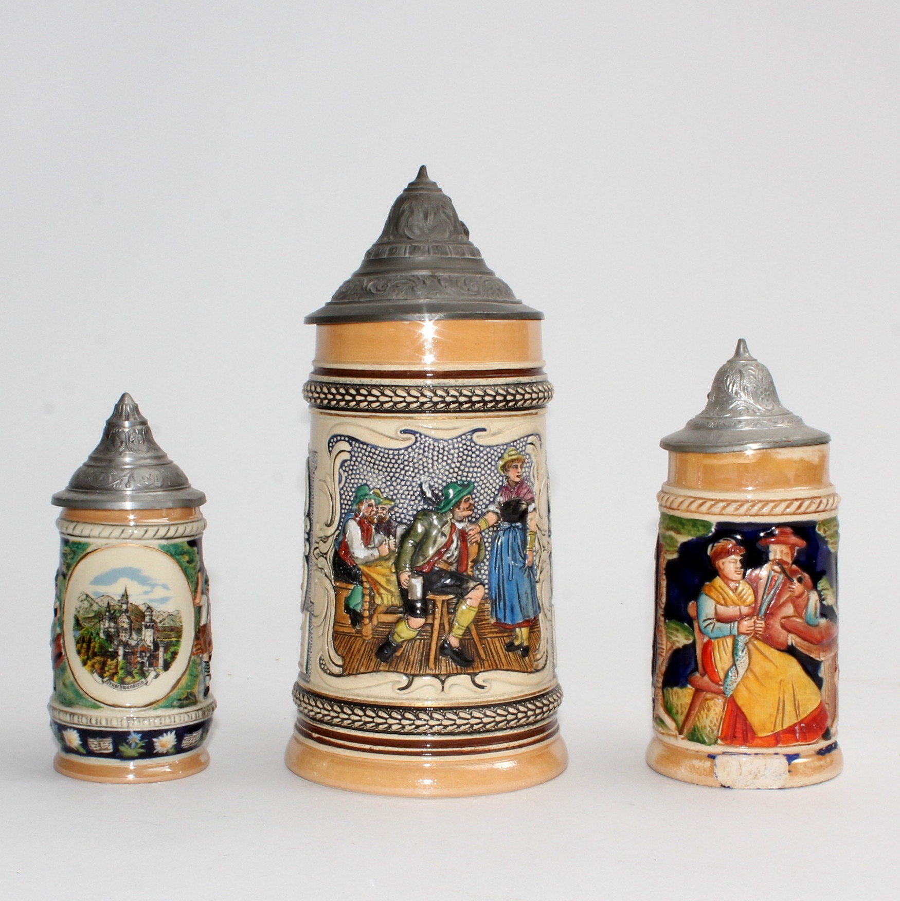 Vintage German Beer Steins