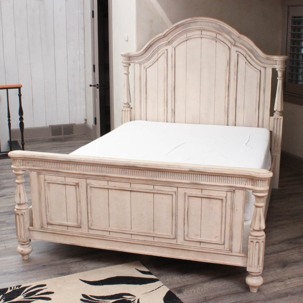 French Country Style Queen Size Bed