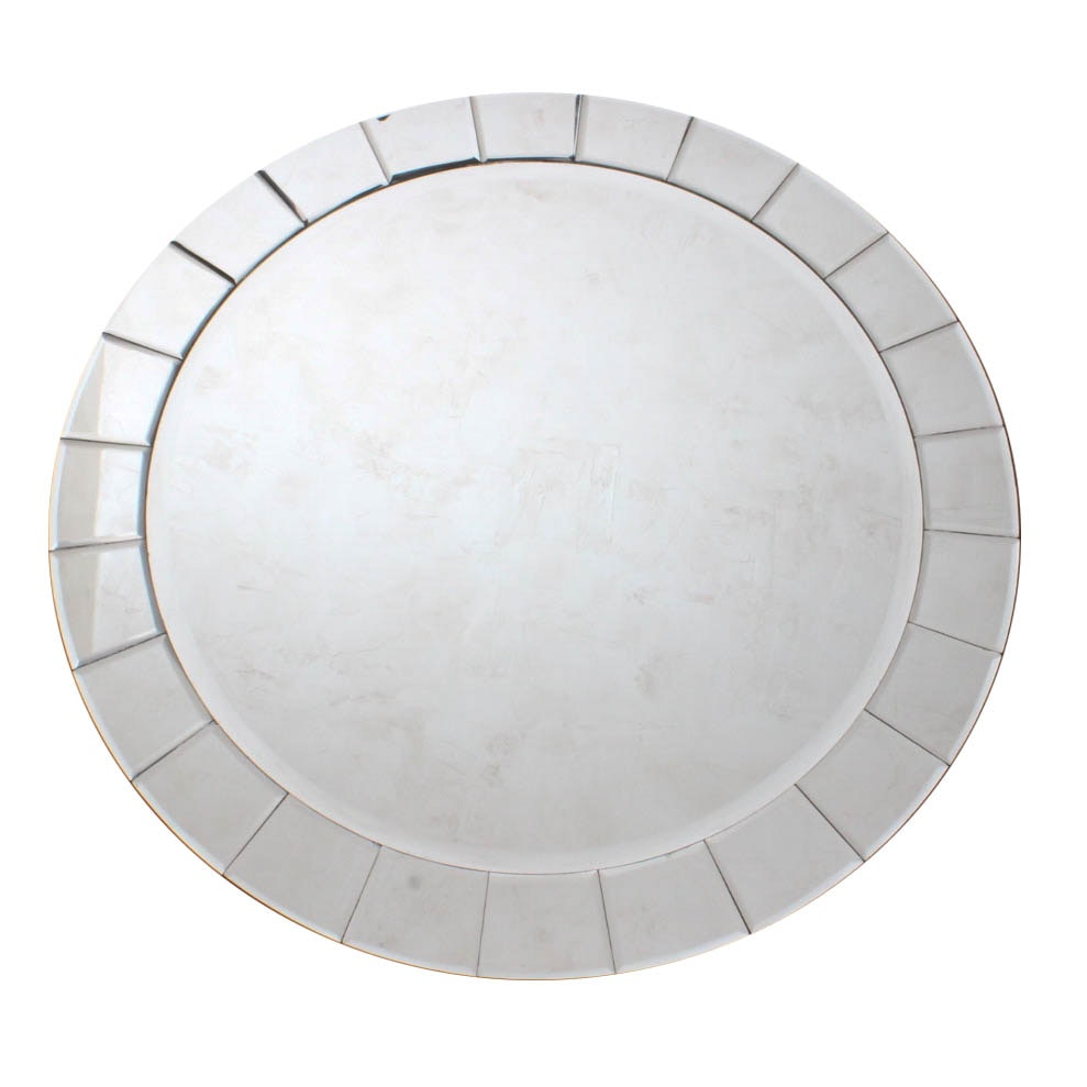 Round Tiled Wall Mirror