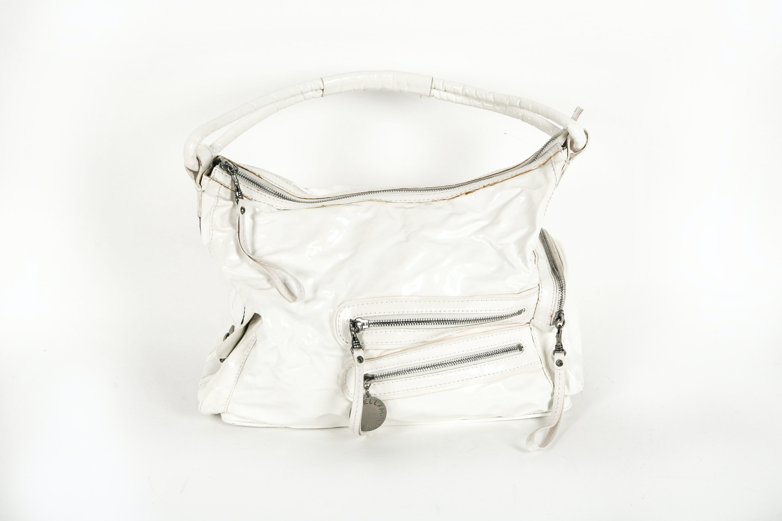 White Vegan Patent Leather Stella McCartney Purse