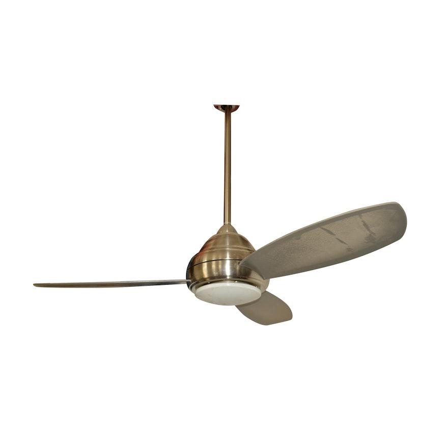 Minka brushed stainless steel ceiling fan ebth minka brushed stainless steel ceiling fan aloadofball Gallery
