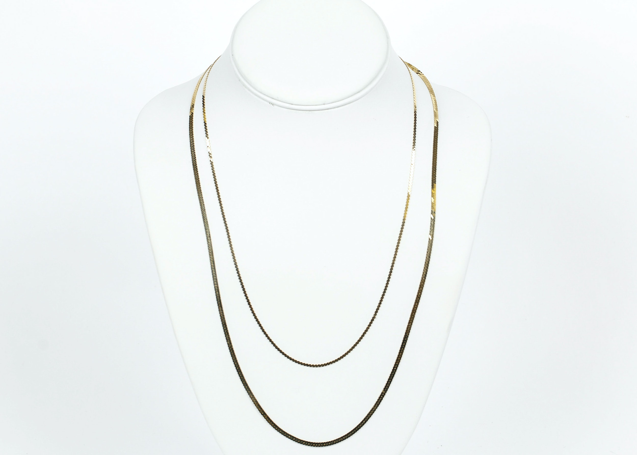 Pair of 14K Yellow Gold Necklaces