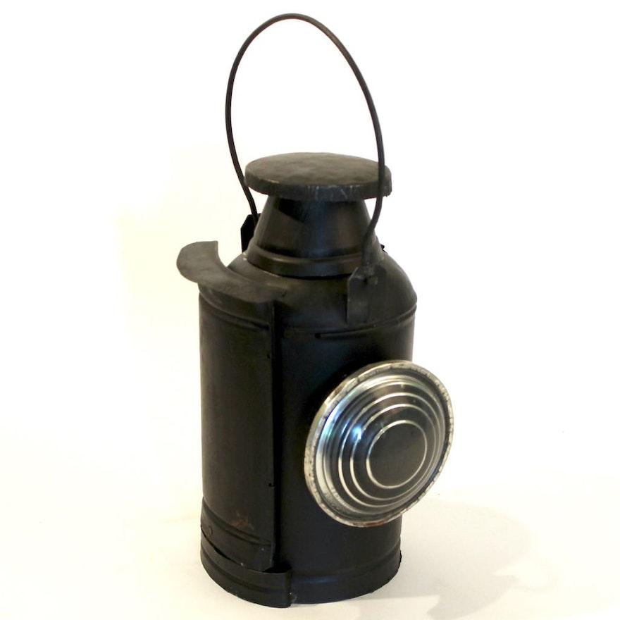 Antique Tin Railroad Signal Lantern