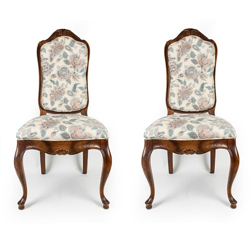 Vintage Provincial Louis XV Style Side Chairs