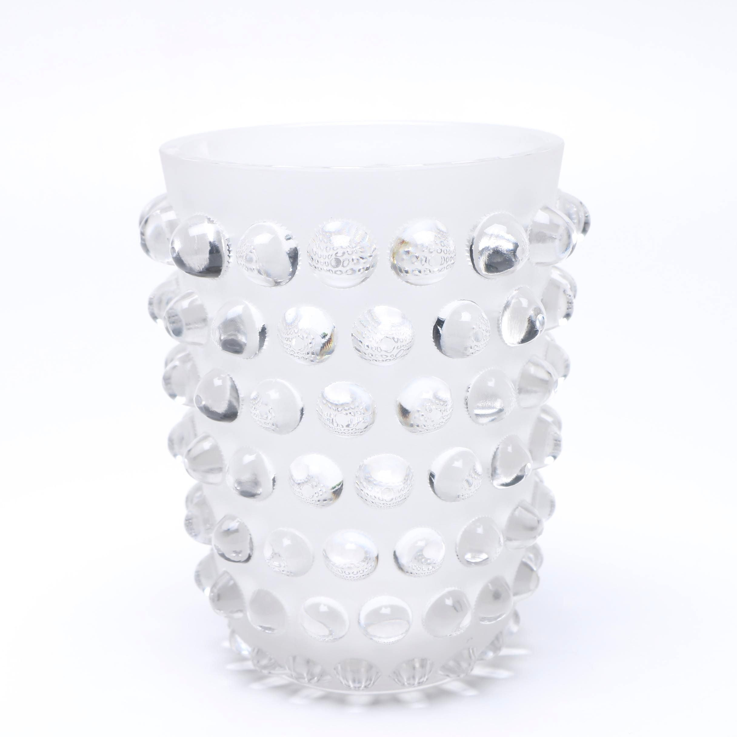 """Lalique """"Mossi"""" Crystal Glass Vase"""