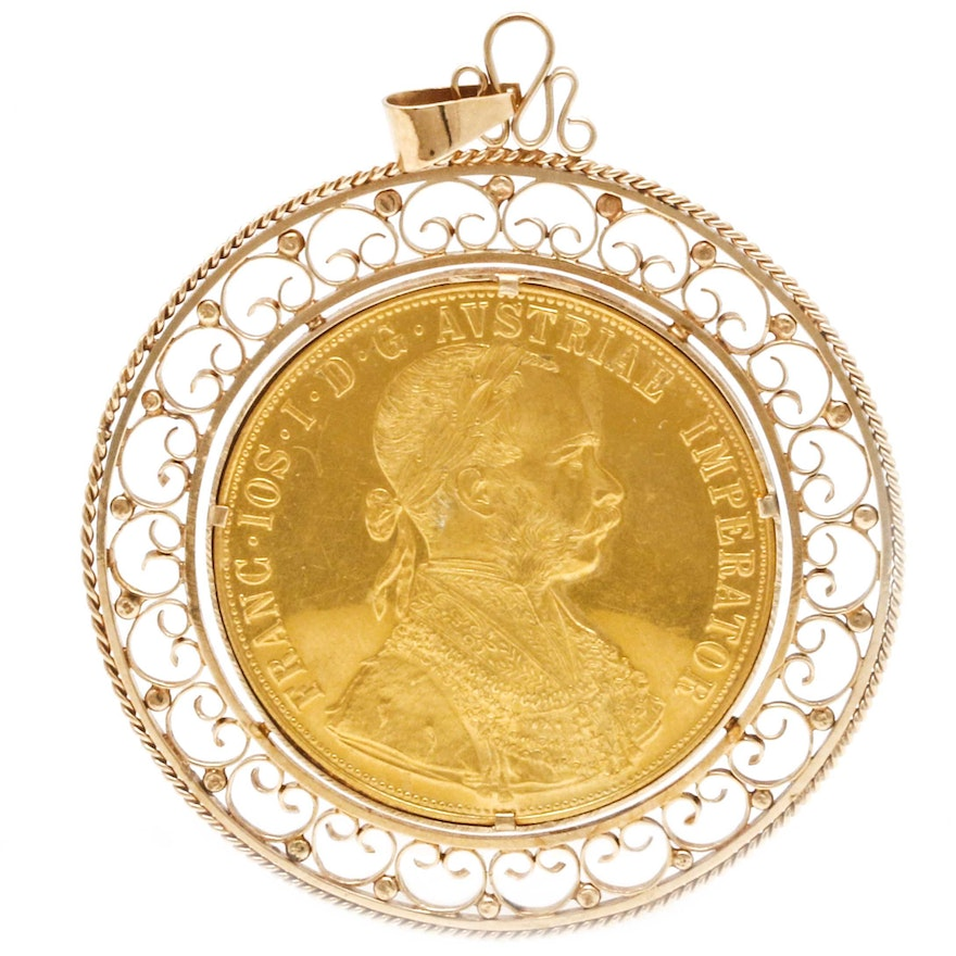 14k yellow gold sovereign pendant ebth 14k yellow gold sovereign pendant aloadofball Images