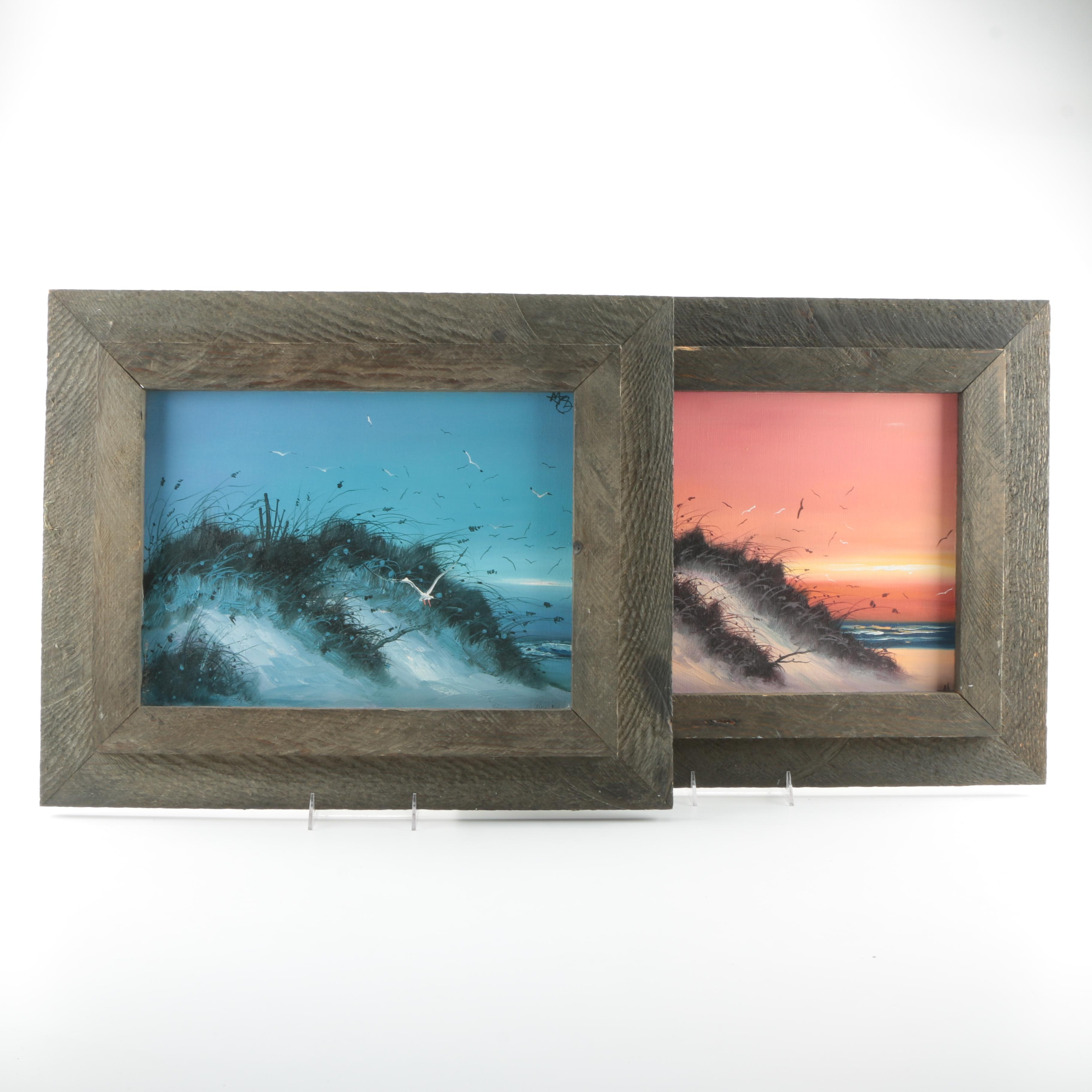 Oil Paintings on Canvas of Evening Seascapes