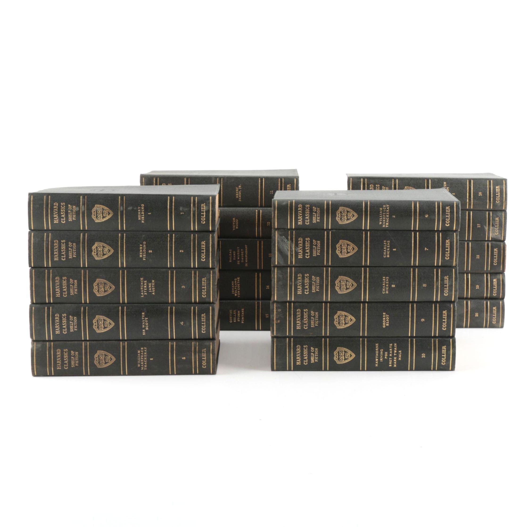 "20 Volume Set of Harvard Classics ""Shelf of Fiction"""