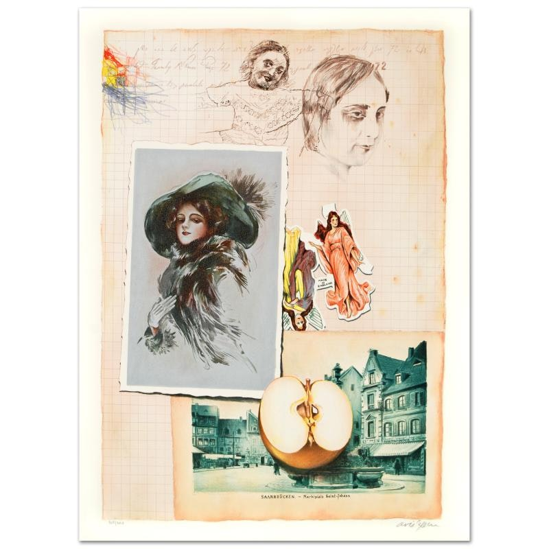 "Ari Azene Signed Limited Edition Lithograph ""Family Album"""