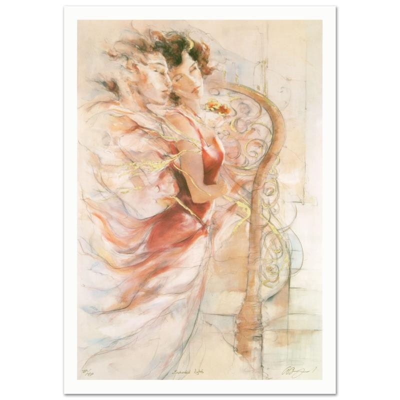 """Gary Benfield Signed Limited Edition Serigraph """"Enchanted Nights"""""""