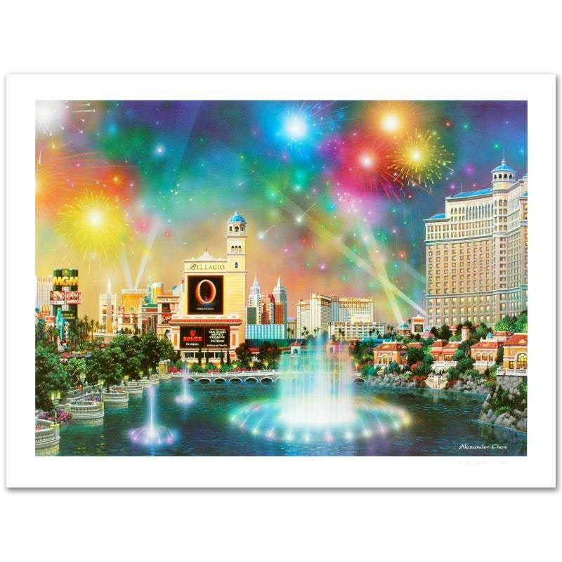 "Alexander Chen Limited Edition Offset Lithograph ""Las Vegas Evening"""